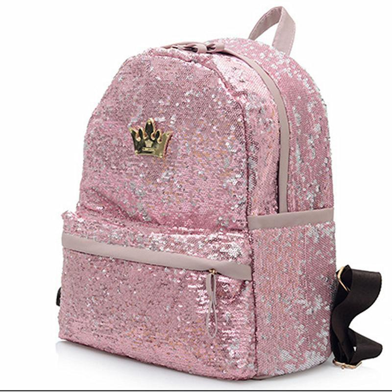 a805261a14 Nice Nice Fashion Cute Girls Sequins Backpack Womens Paillette Leisure  School BookBags Fashion Top Quality P111 Backpacks For College Backpacks For  Kids ...