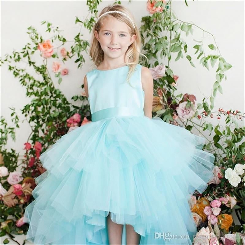 d8dff1173f New Arrival Flower Girl Dresses For Wedding Lovely Little Girl Kid Child  Dress Short Front Long Back Party Pageant Communion Dress Cheap Flower Girls  ...