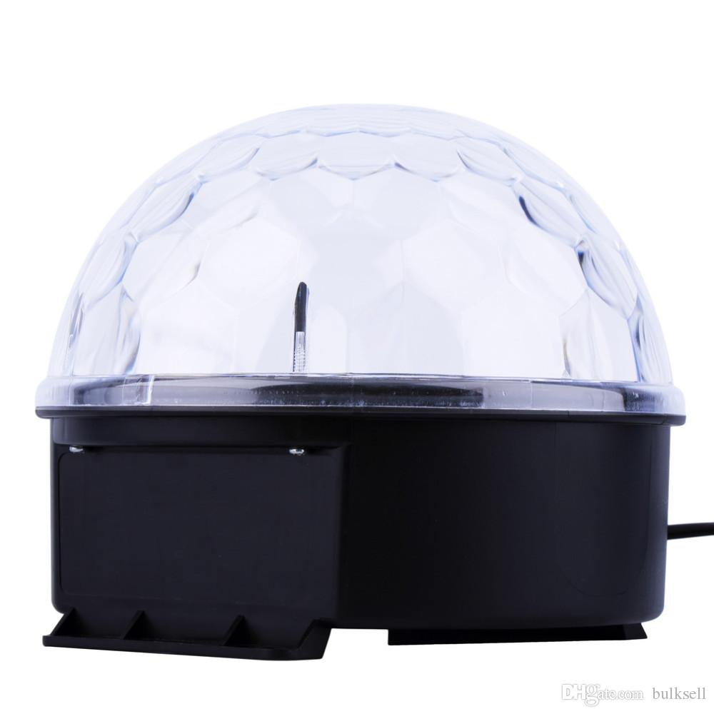 6 Renkler Disko DJ Sahne Partisi için LED Kristal Magic Ball Etkisi Işık