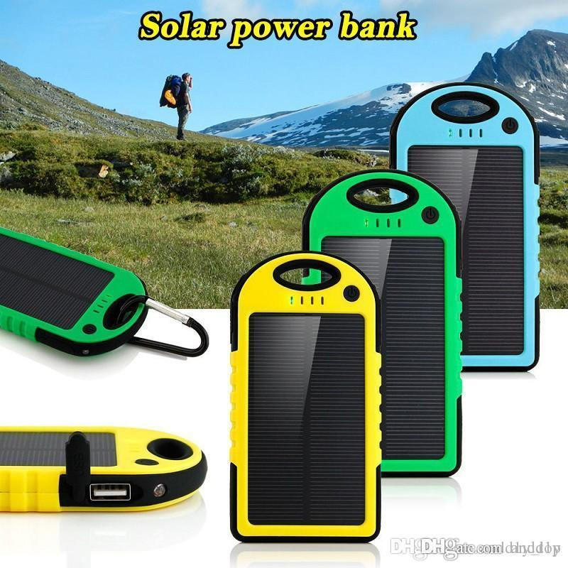 Battery Charger Cases Delicious Universal Solar Power Bank 5000mah Portable Waterproof Solar Charger Dual-usb Solar Battery Charger For Iphone Samsung All Phone