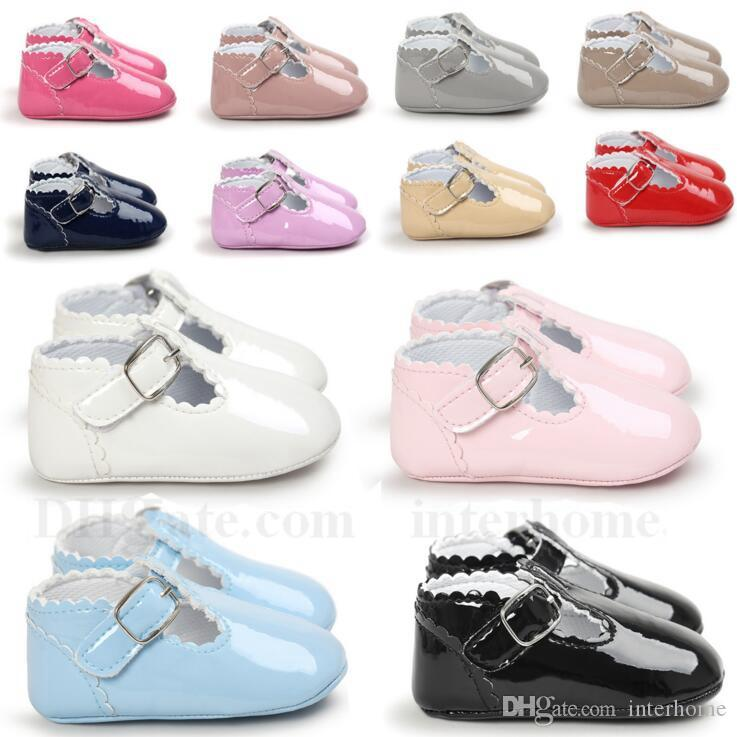 Baby Shoes Girls PU Leather Moccasins Kids Soft Sole First Walkers ... ec5118b0147d