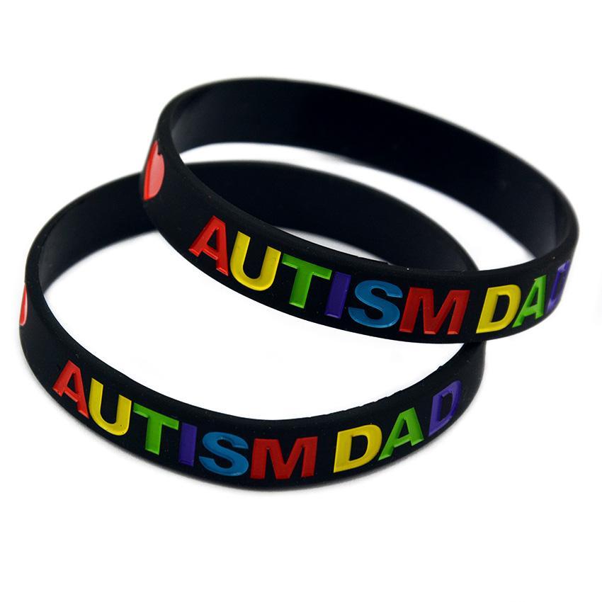 Love Autism Dad and Mom Silicone Rubberen Polsband Een geweldige manier om uw steun voor hen te tonen