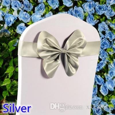 Großhandel Silberne Farbe Stuhl Schärpe Hochzeit Mini Stil ...