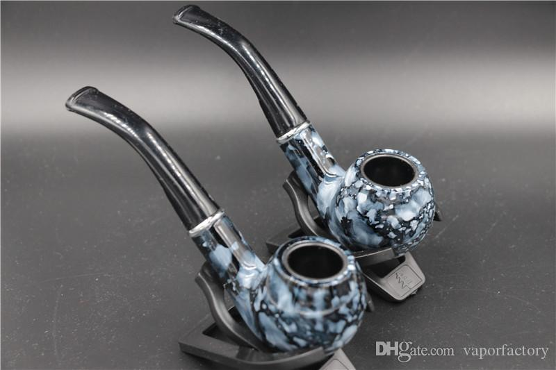 USA Marbleized smoking pipe marbling herb Tobacco pipes smoker cigarette personalized Resin Smoking Pipes China cheap price