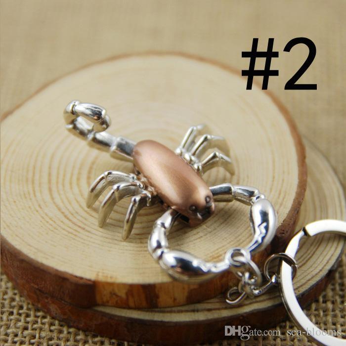 Skorpion Tiere Schlüsselanhänger Charme Schlüsselanhänger Schlüsselanhänger Zangen Ist Beweglich Männer Dame Geschenk Handwerk Souvenir Neuheiten C4L