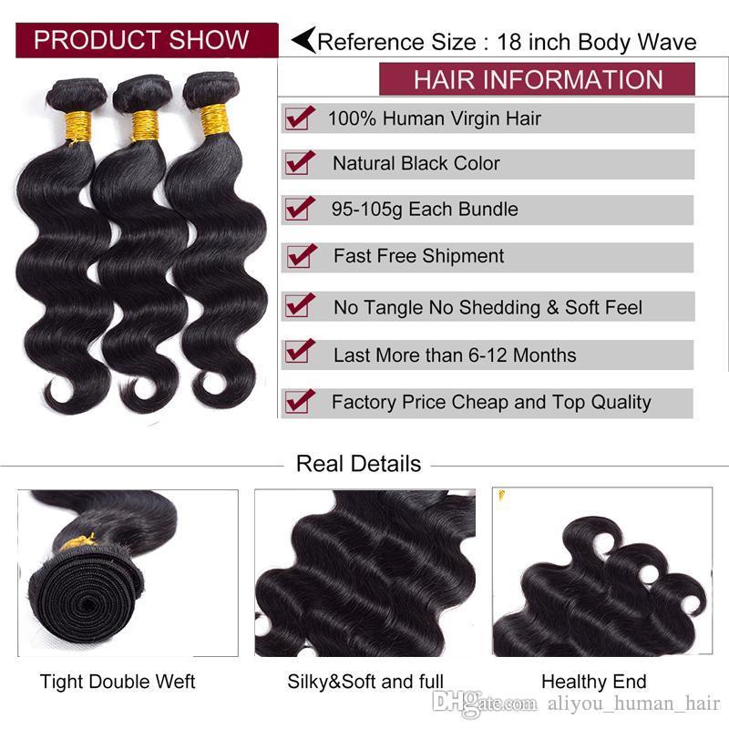Best Selling brasiliani del Virgin dell'onda del corpo di estensioni dei capelli umani brasiliani malese indiano peruviano cambogiano dei capelli 5 Bundle capelli umani di Remy
