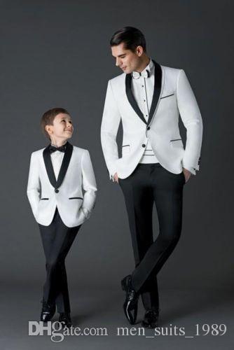 Erkekler takım elbise özel 2 parça damat en iyi adam düğün kişinin ahlak yetiştirmek ebeveyn-çocuk giyim iş ziyafet mezuniyet fotoğrafları