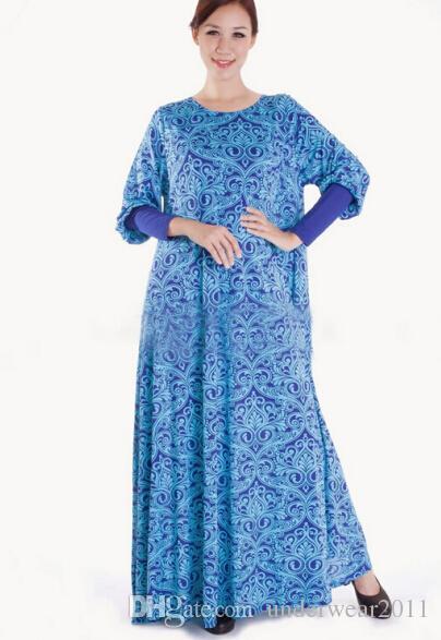 muslim milk silk dress women dresses islamic clothes arabia clothing long dress women soft D153