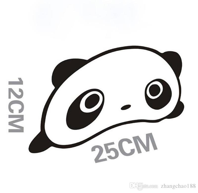 Automóvil Accesorio Exterior Panda Pegatinas de Coche 25 cm * 12 cm Panda de Dibujos Animados Etiqueta Engomada de Coche Divertido Panda Auto Supplies