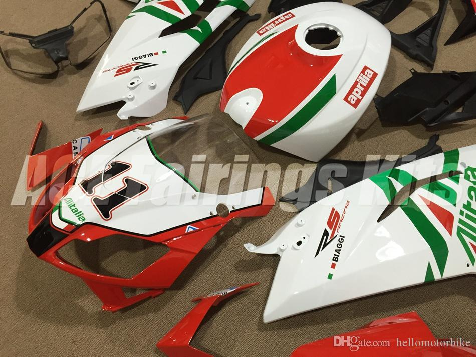 New Injection Mold ABS Full bike fairing kits for aprilia RS125 2006-2011 RS 125 06 07 08 09 10 11 RS4+Tank cover bodywork set number 11