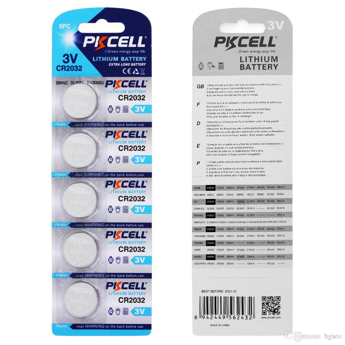 Batteria all'ingrosso del bottone del litio di PKCELL 220mAh 3V CR2032 di telecomandi / macchine fotografiche / strumenti elettronici ACC_11M