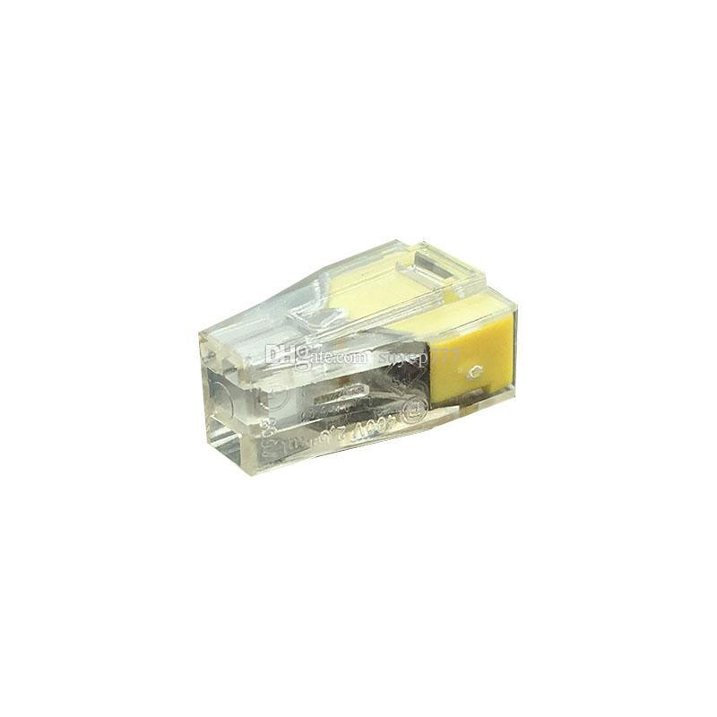 773-T-102 Quick Wire Connector 2 pin Cable Terminal Block Connector 400V 18-12AWG Push in wire yellow