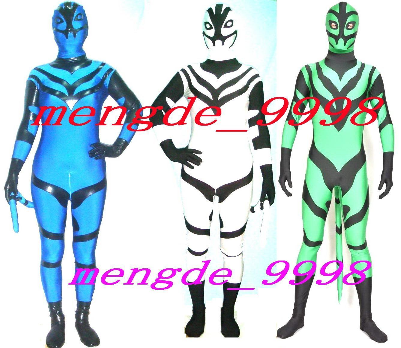 Unisex Superhero Costumes 3Color Lycra Spandex Fantastic Superhero Suit  Catsuit Costumes Fancy Super Hero Outfit Halloween Cosplay Suit M182 9eb3acb1c