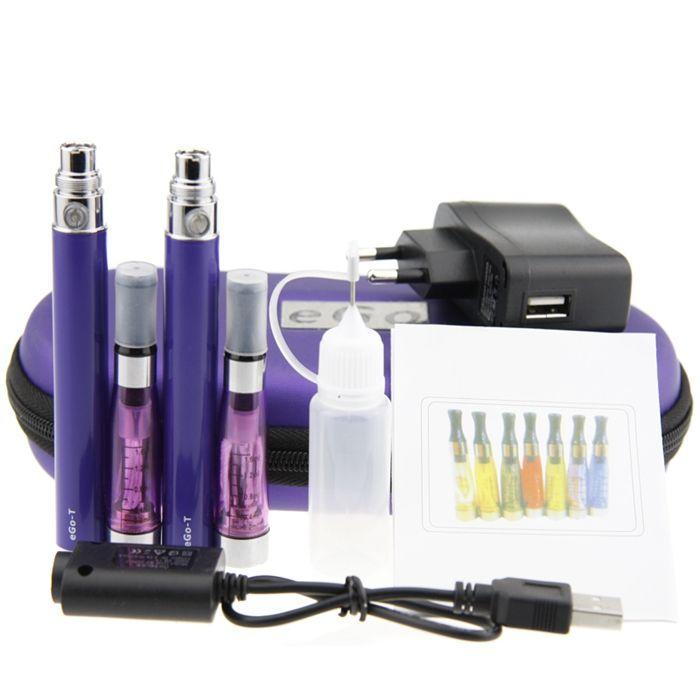 Ego T CE4 Starter Kit Zipper case Double Kit Electronic Cigarette 2 Atomizers 2 Batteries 650mah 900mah 1100mah vapor vaporizer E-Cigarette