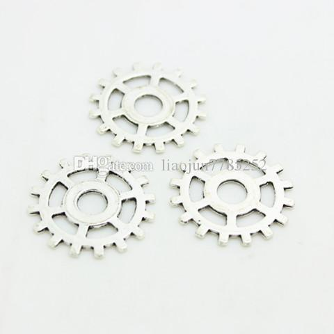 Sweet Bell Four color Vintage Metal Alloy Steampunk Gears Charm Jewelry Findings Fit Diy Jewelry Making Min order 25mm D0098