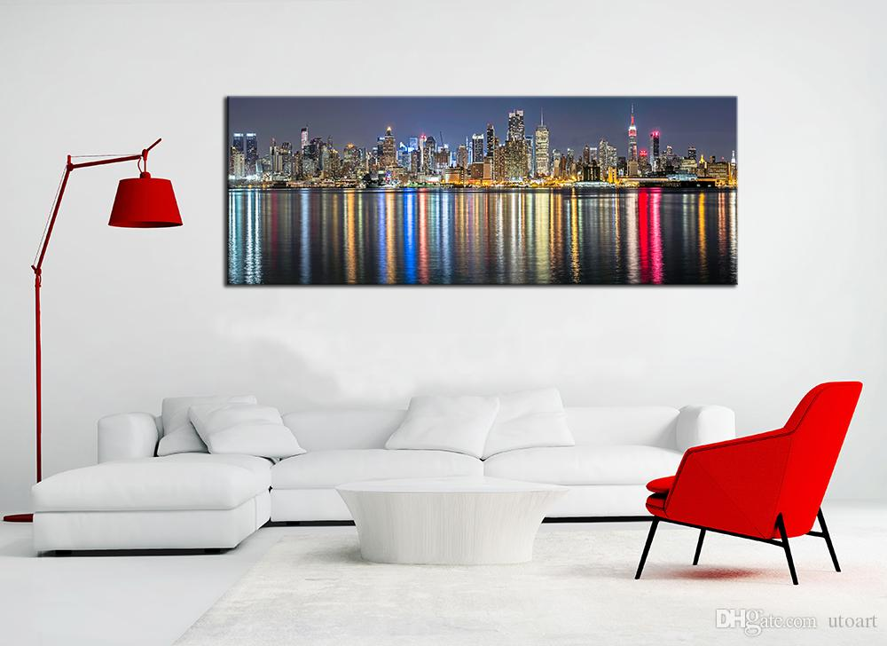 Panoramic Wall Art 2017 guarantee new york city canvas painting panoramic home decor