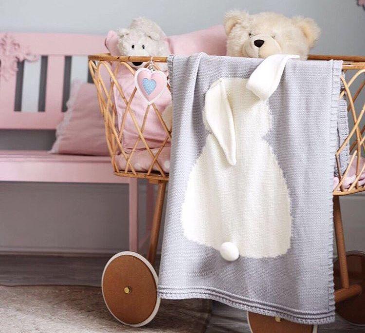 New INS Baby Girls Boys Cute rabbit Knitted Blankets Sleeping Swaddling Sleeping Bags Children Blanket kids Bunny Swaddling