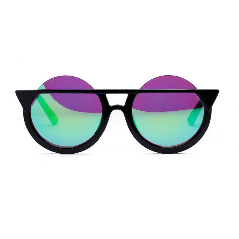 Compre Atacado New Retro Cat Eye Shaped Modern Oversized Sun Glasses Homens  Mulheres Óculos De Sol Eyewear Oculos De Sol De Naixing,  27.21    Pt.Dhgate.Com 54bcbf7134