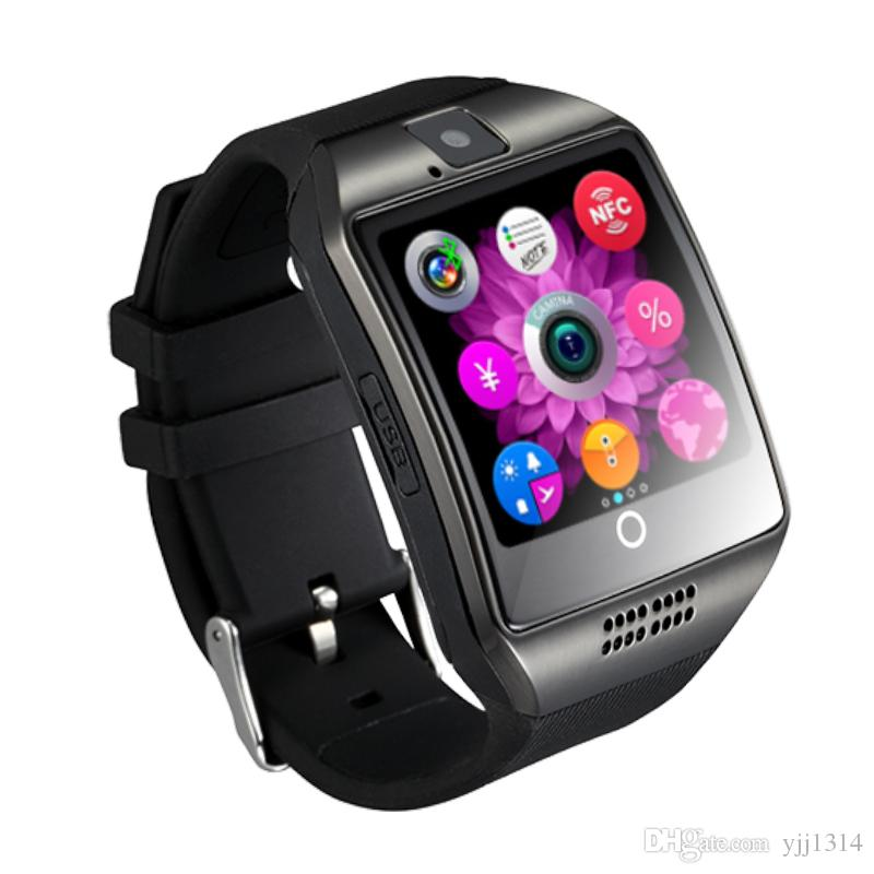 Good battery Q18 smart watches Wholesale prices Bluetooth Smartwatch with Camera Support Tf sim Card Slot Bluetooth NFC Connection