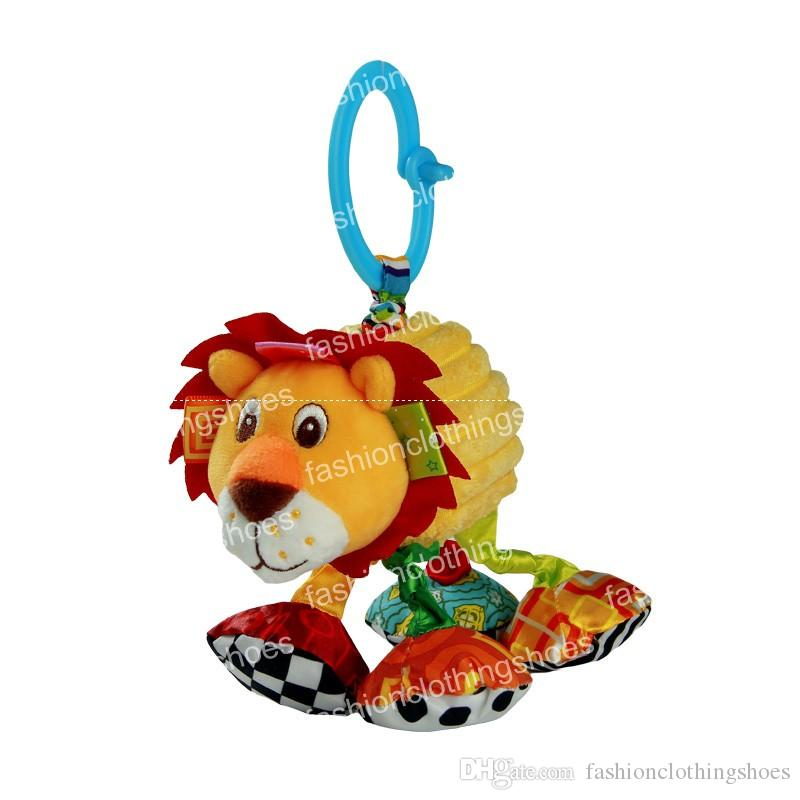 Sozzy Baby Vibrated Plush Animal Lion Toy Rattle Crinkle Sound 18cm Soft Stuffed Multicolor Multifunction Toy
