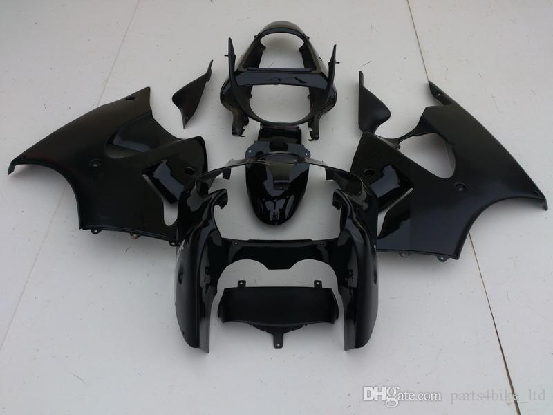 Nuevo mercado secundario de carenados para Kawasaki Ninja ZX6R 00-02 ZX636 ZX 6R 636 2000 2001 2002 ZX6R mate brillante kit carenado negro +7 regalos