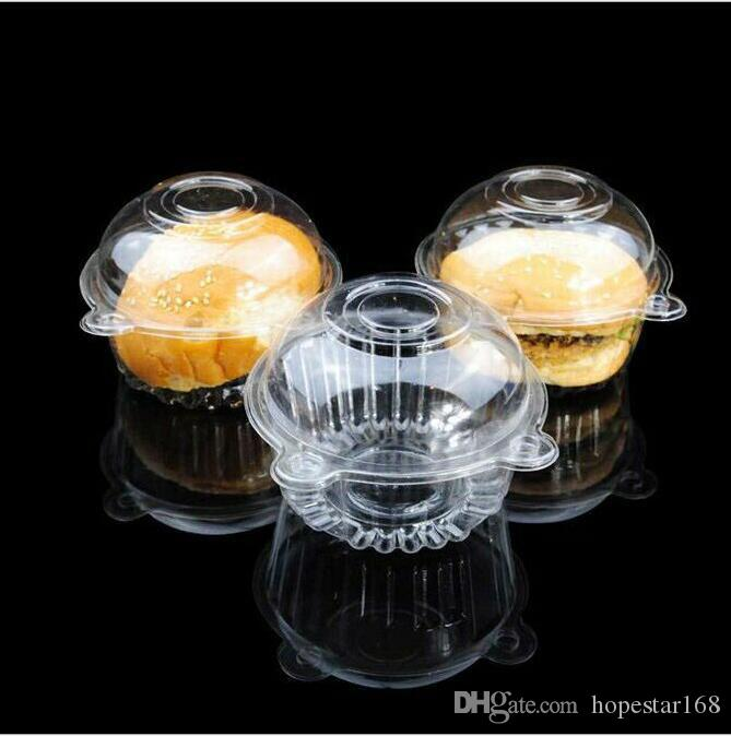 Hat Clear Plastic Disposable Plastic Cake Container Cupcakes Packaging Box Cake Box Salad Bakeware Kitchen Tool