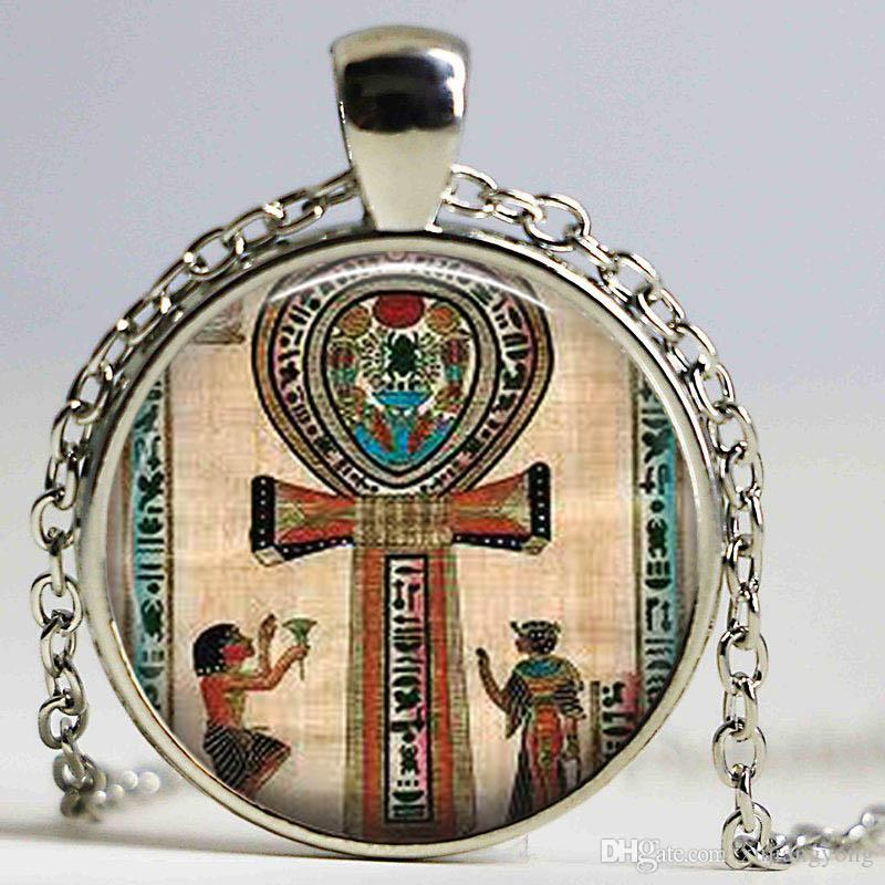Classic Ancient Egyptian Ankh kolye Ankh Vintage Necklace Life Collares 2016 Cheap Costume Jewelry In Wholesale