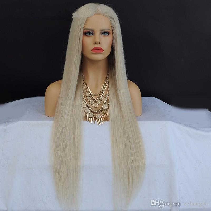 Полный шнурка человеческих волос Парики Лучшее качество бразильские волосы 100% Девушки Body # 60 Длина волны парик бесклеевой парик и Ребенка волос полные парики шнурка
