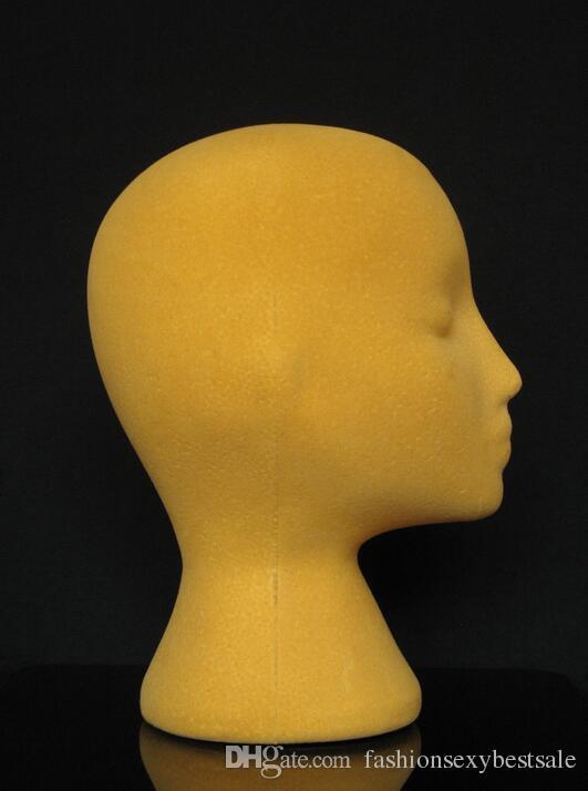 Livraison gratuite mannequin têtes têtes de mannequin de cosmétologie, coiffure professionnel style / affichage féminin flocage pour chapeau, cheveux, M00462