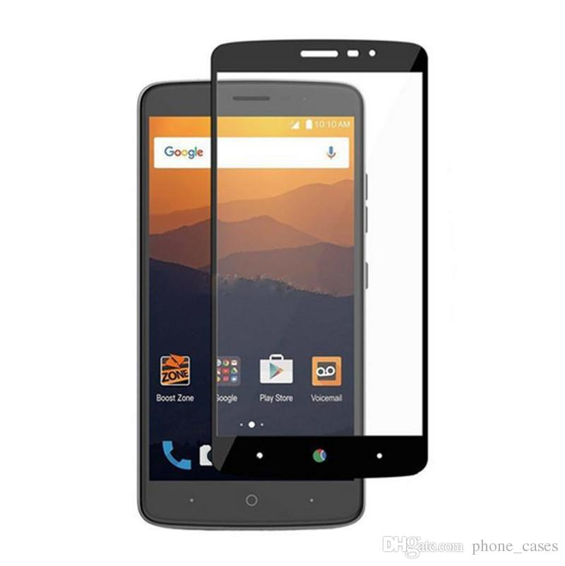 3D Full Cover Tempered Glass Screen Protector For ZTE Avid 4 Metropcs For  LG Aristo 2 Metropcs Without Paper Retail