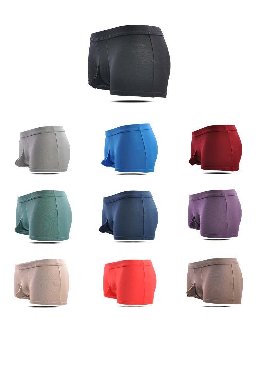Sur le dégagement Hommes complets Mémoires U Convex Pouch Pouch Slip Hipster Respirant haute qualité boyshorts Sexy Gay Underwear Multi couleur L-3XL