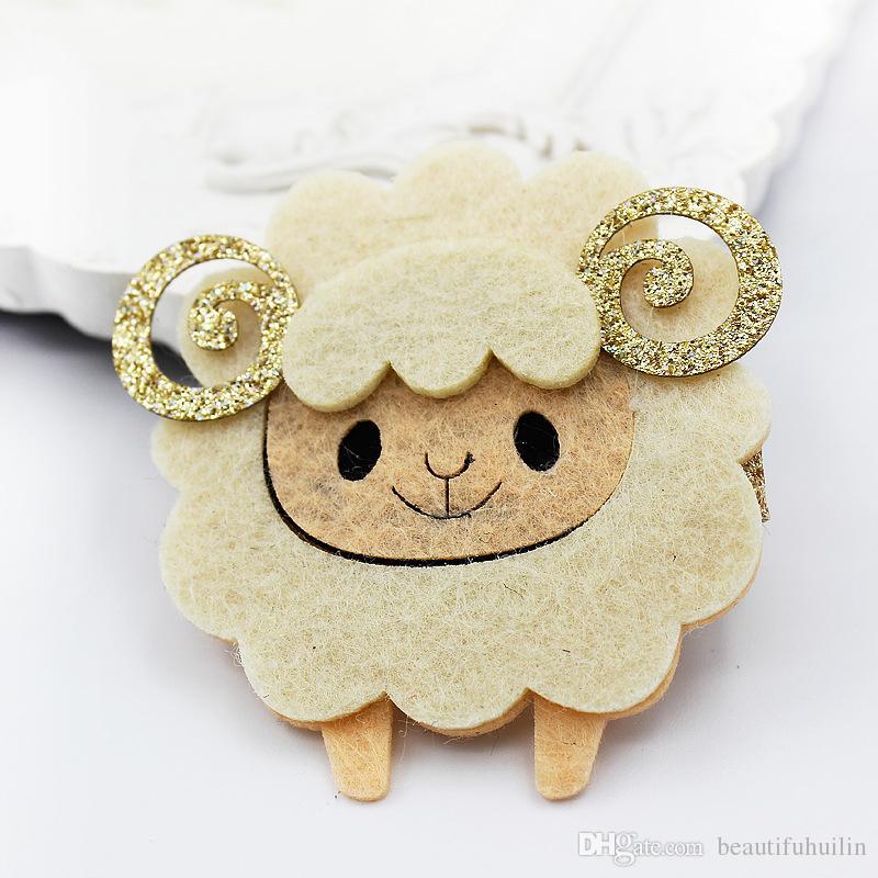 Baby Girls Cartoon Sheep Hair Clips Hairpin Princess Barrettes Girls Kids Hair Accessories Beautiful HuiLin B33