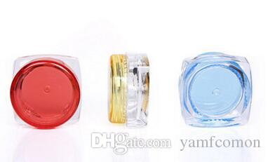 3G/5g Packing Bottles Square Cream Jars Clear Plastic Makeup Sub-bottling,Empty Cosmetic Container mask box