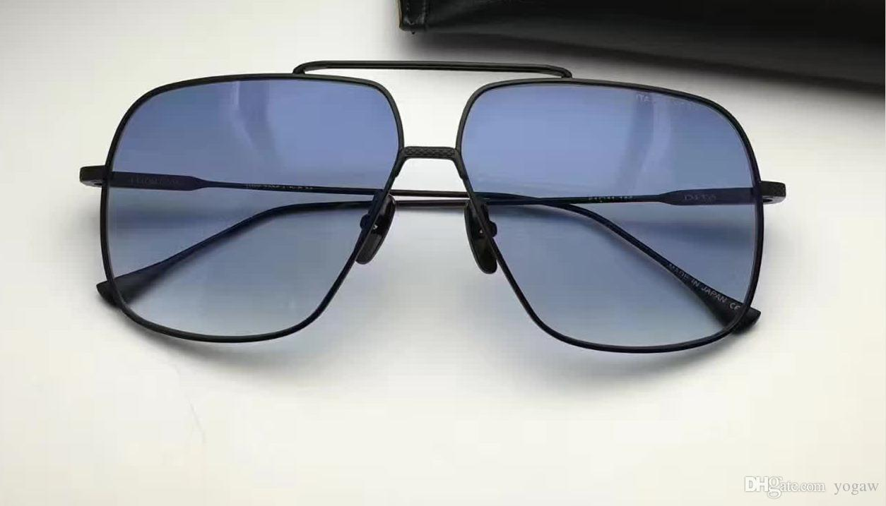 Men Square Sunglasses gold brown Gradient len Fashion vintage shades sunglasses eyewear New with case