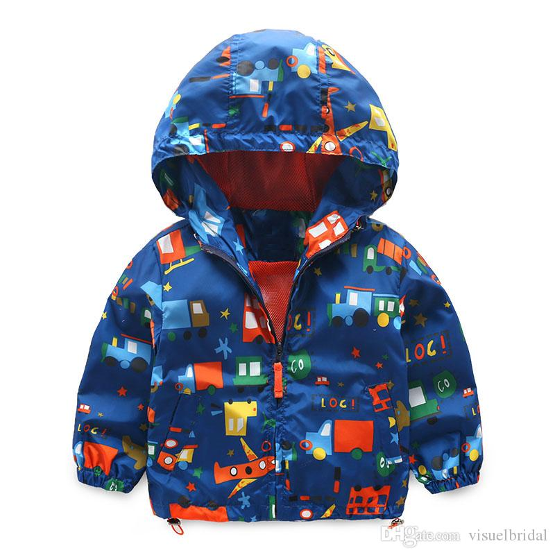 Baby Girl Jackets Spring Autumn Hooded Car Baby Boys Outerwear ...