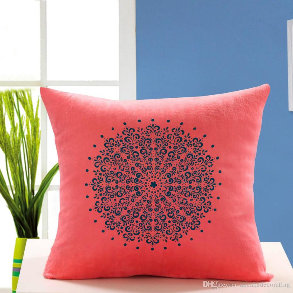Round Flower Pattern Stencil For Diy Wall Painting Home Decor