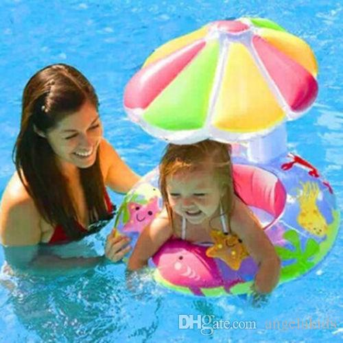 baby swim ring inflatable outdoor swim pool New Sunshade Baby Infant Float Seat Car Boat Inflatable Swim Ring Pool