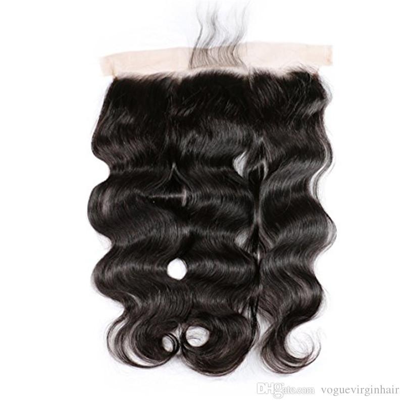Brazilian Hair Peruvian Virgin Hair Body Wave 13x4 Lace Frotal With Lace Frontal With 13x4 Lace Frontal Closure
