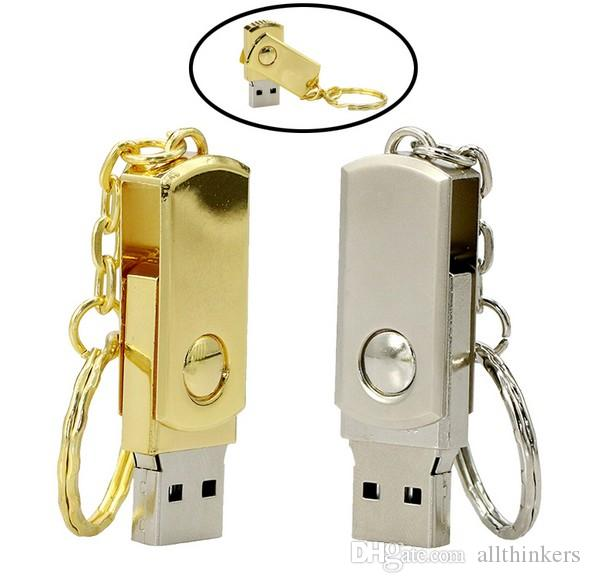 Swivel fette Metall USB Flash Drive Pendler Speicherkarten USB 2.0 Real 2GB 4GB 8GB 16GB USB-Sticks