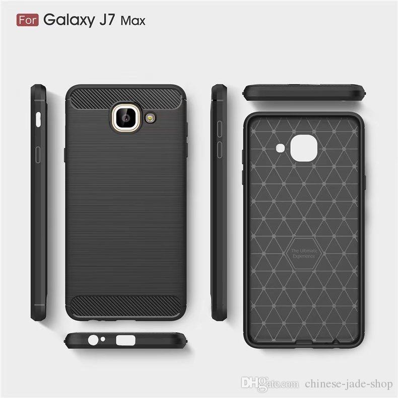 00e8ae596ab Slim Armor Brushed TPU CASE COVER FOR Samsung Galaxy A3 2017 A5 2017 J3 Prime  J7 Max J7 Prime J1 2016 Grand Prime Carbon Fiber Texture Silicone Cell  Phone ...