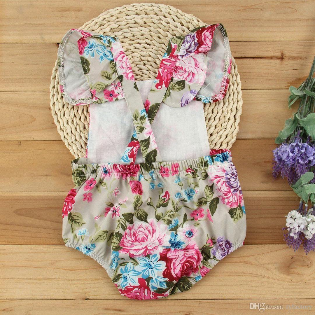 Newborn Infant cute Baby Girls rompers Casual Party flowers girl Bodysuit romper sweet Jumpsuit good quality child top Clothes lace Outfits