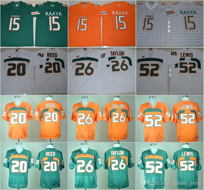 buy online 5124b 00d73 ncaa jerseys miami hurricanes 20 ed reed greed college ...