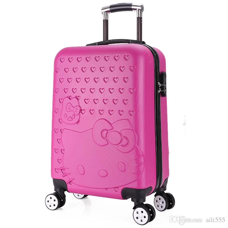Lovely Hello Kitty Luggage Children Trolley Travel Bag 18 Inch ...