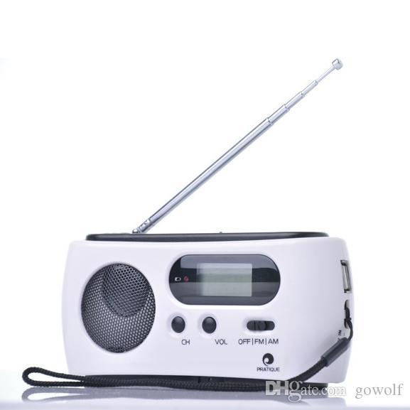 1dd1443a93d Dynamo Radio AM FM Radio Receiver Generator Solar Hand Crank Dynamo Powered  Rechargeable Flashlights For Outdoor Camping Wrist Flashlight Army  Flashlight ...
