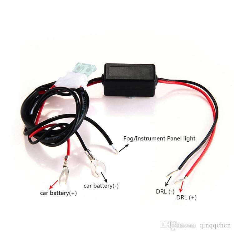 سيارة ذكية DRL LED النهار تشغيل أسلاك الضوء تسخير التقوية DRL تحكم كابل السيارات LED النهار تشغيل ضوء وقوف السيارات على / قبالة التحول
