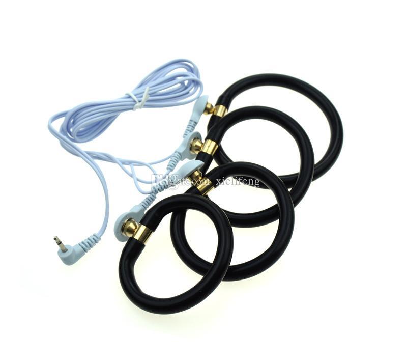 cbt electro shock sex toys pénis cock rings bdsm bondage gear kit de thérapie de choc électrique torture pour hommes XLFST001P