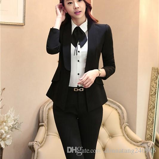 1f0737057 2019 3XL Plus Size Women Fashion Business Suits, Women Blazer With Pant Suit  Sets, Office Clothing Blazer Suit Sets From Donnatang240965, $39.35 |  DHgate.