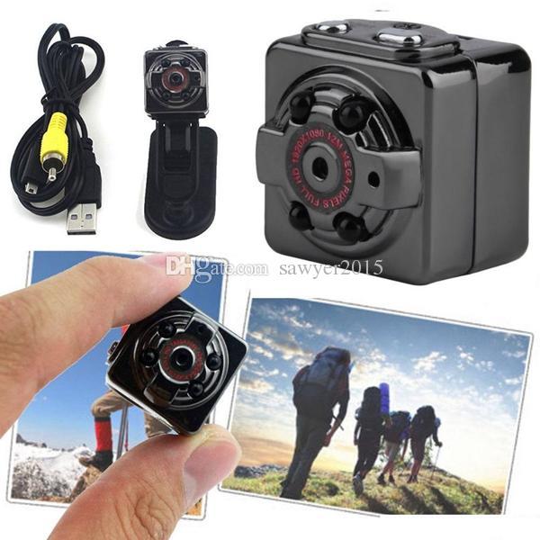كاميرا HD DVS SQ8 SportS DVR عالية الدقة الكاملة مع رؤية ليلية بالأشعة تحت الحمراء للكشف عن الحركة