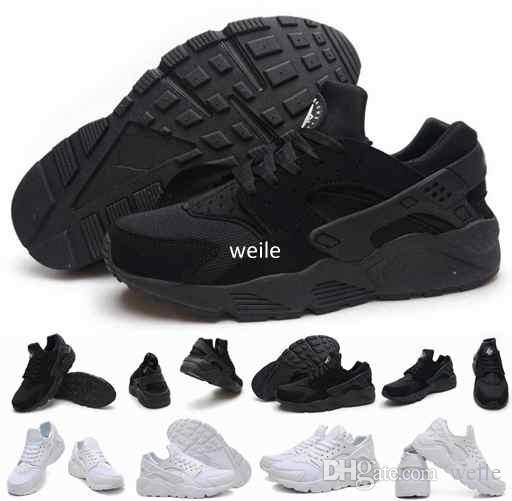 quality design f77d8 c2e6a 2019 Hot Sale Air Huarache Ultra Running Shoes For Women Men,Mens White  Triple Black Huaraches 1 Sports Sneakers Trainers Huraches Shoe 36 46 From  Weile, ...