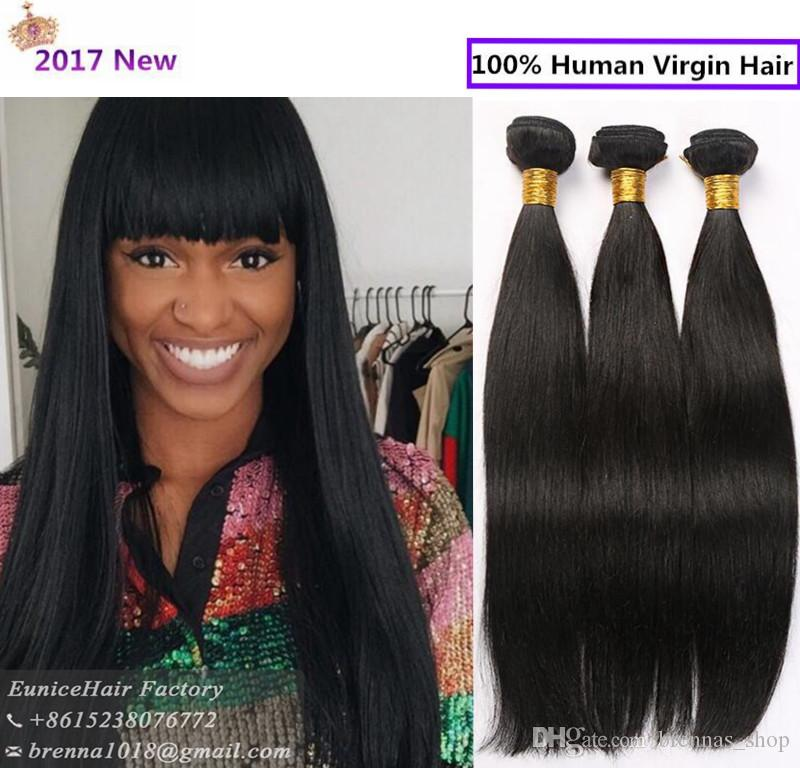 Brazilian Straight Hair Bundles 3 Pack For Full Head Hair Extension Remy  Wefts For Black Women Soft 100% Unprocessed Natrual Hair African Hair Weave  ... 63a9b33823